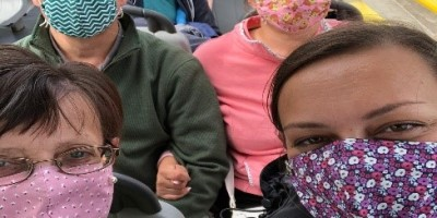 The Raw family rocking the face coverings look - Picture courtesy of Jennifer Raw, Masks hand made by Joyce Raw